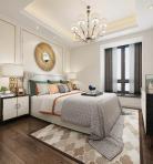轻奢风格整体家装卧室空间主卧室3D模型下载-[ID]49578