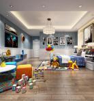 现代风格整体家装卧室空间儿童房3D模型下载-[ID]49787