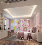 现代风格整体家装卧室空间儿童房3D模型下载-[ID]49792