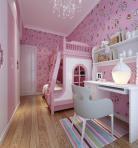 现代风格整体家装卧室空间儿童房3D模型下载-[ID]49804