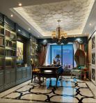欧式风格整体家装书房空间3D模型下载-[ID]50048