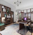 新中式风格整体家装书房空间3D模型下载-[ID]50064