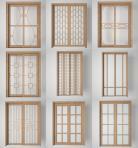 3D厨房阳台玻璃门组合3D模型下载-[ID]51173