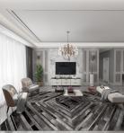 现代轻奢客厅餐厅整装定制3D模型下载-[ID]52052