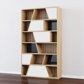 北欧现代装饰书柜3d模型免费下载