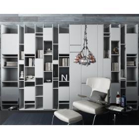 超后现代书架休闲椅组合3d模型免费下载