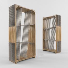 后现代装饰柜架3d模型免费下载