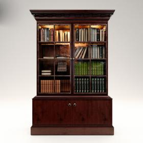 美式风格书柜3d模型免费下载