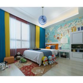 现代风格儿童房 (12)3d模型免费下载
