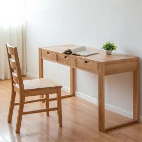 纯木简约书桌椅  (3)3d模型免费下载