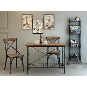 现代实木工业风书桌椅  (2)3d模型免费下载