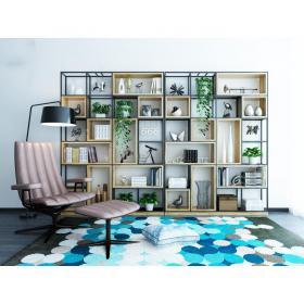 现代北欧装饰柜沙发脚蹬组合3d模型免费下载