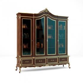 欧式精工书柜3d模型免费下载