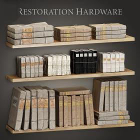 书籍书架复古3d模型免费下载