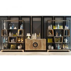 现代装饰柜架陈设品3d模型免费下载