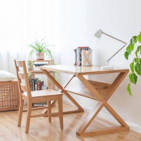 新中式纯木简约书桌椅 (5)3d模型免费下载