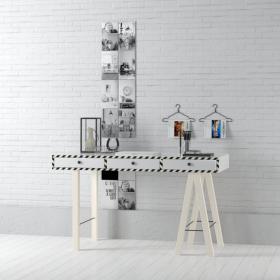 现代实木工作桌 (16)3d模型免费下载