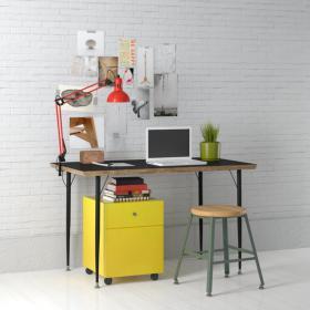 现代实木工作桌 (8)3d模型免费下载