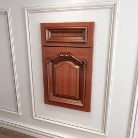 橱柜衣柜实木起拱雕花门板原创3d模型免费下载