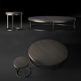 现代凳子茶几组合3d模型免费下载