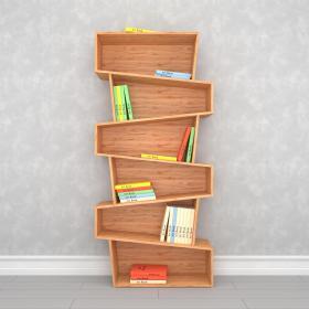 现代实木书柜3d模型免费下载
