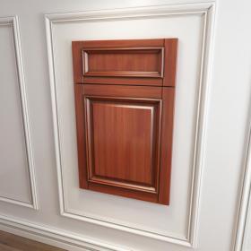 实木起线门板,拉手,网格门玻璃门3d模型