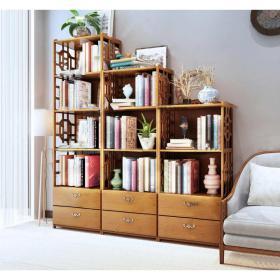 新中式实木书柜书籍摆件组合3d模型免费下载