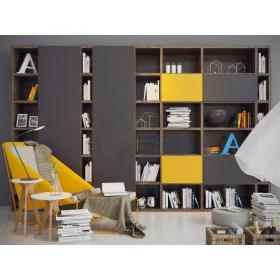 现代单椅书柜书架3d模型免费下载
