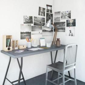 书桌椅3d模型免费下载
