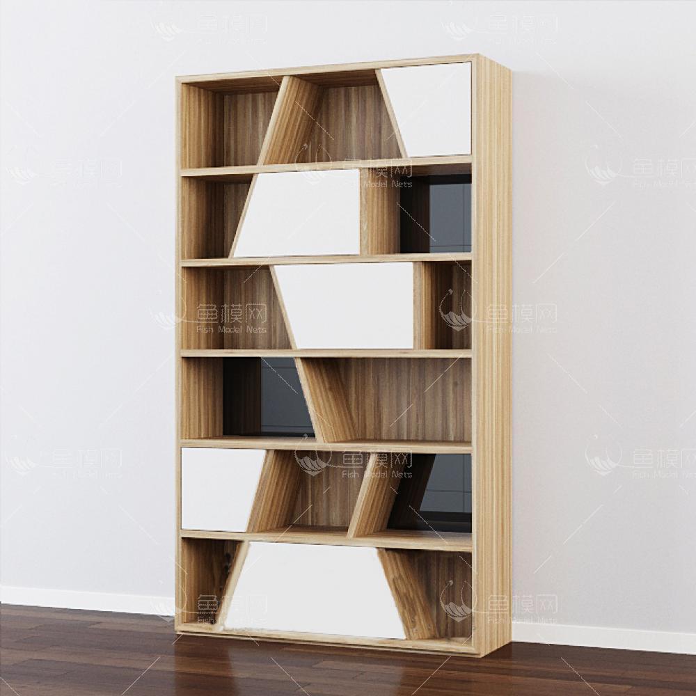 北欧现代装饰书柜3d模型