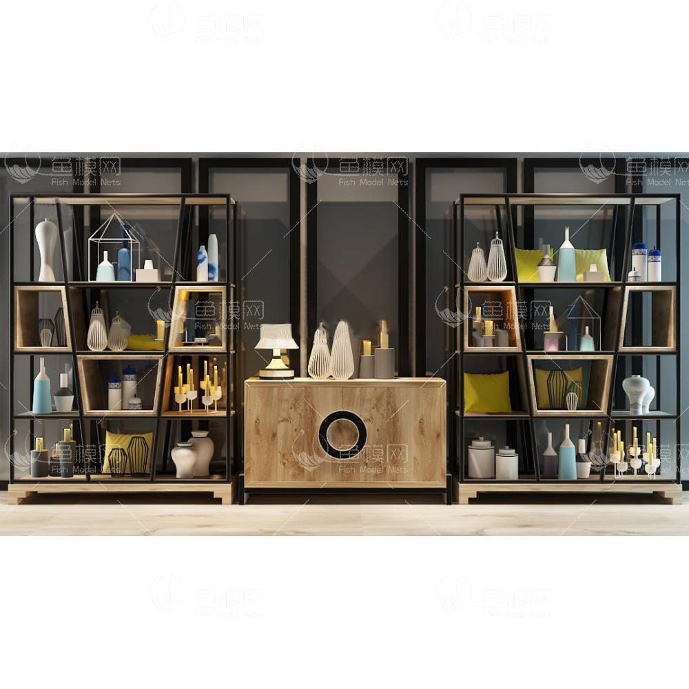 现代装饰柜架陈设品3d模型