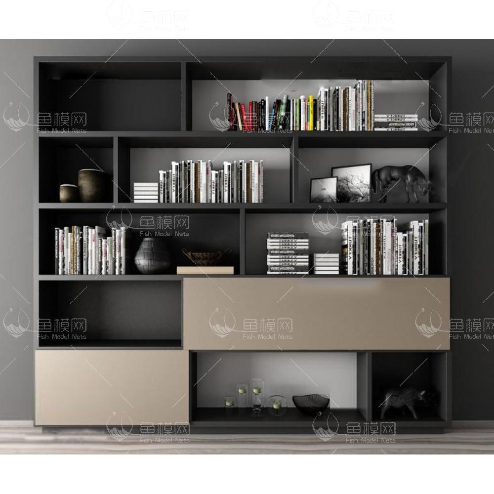 书柜组合3d模型
