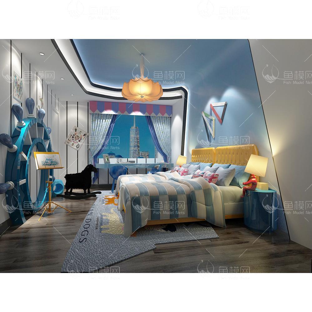 地中海风儿童房 (4)3d模型