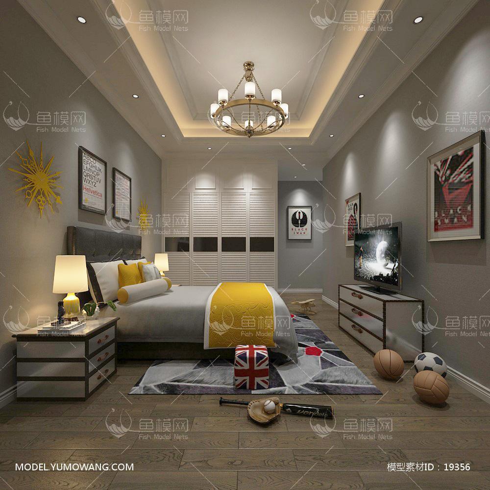 儿童房 (6)3d模型