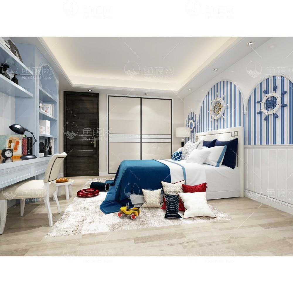 地中海风格儿童房 (1)3d模型