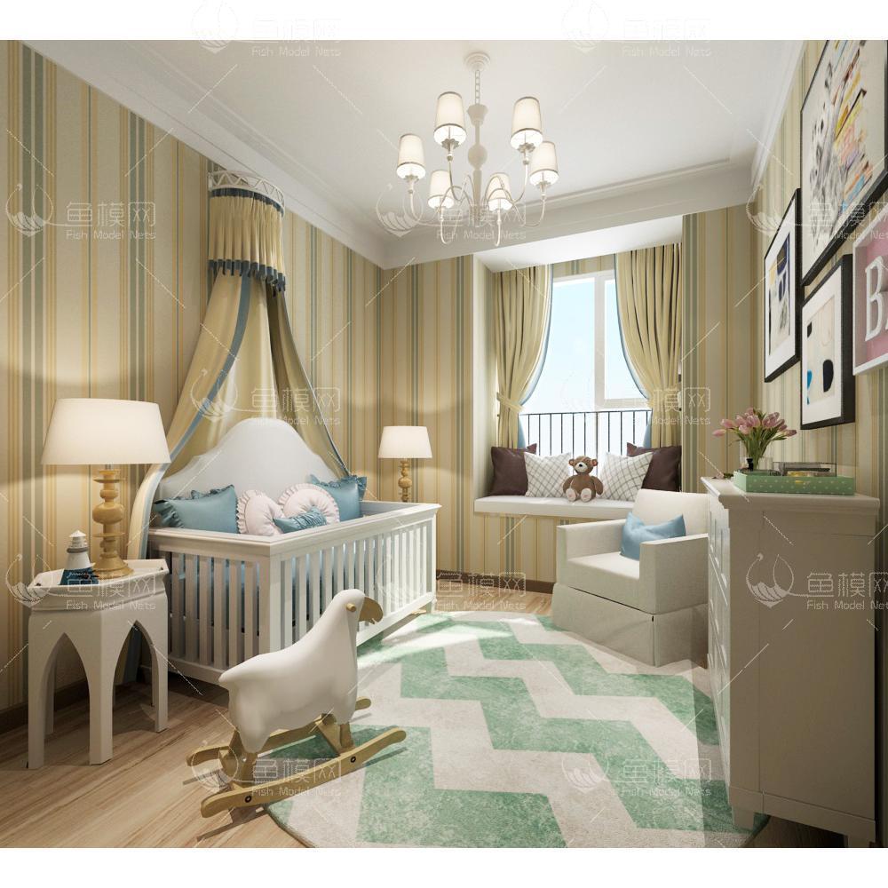 儿童房 (2)3d模型
