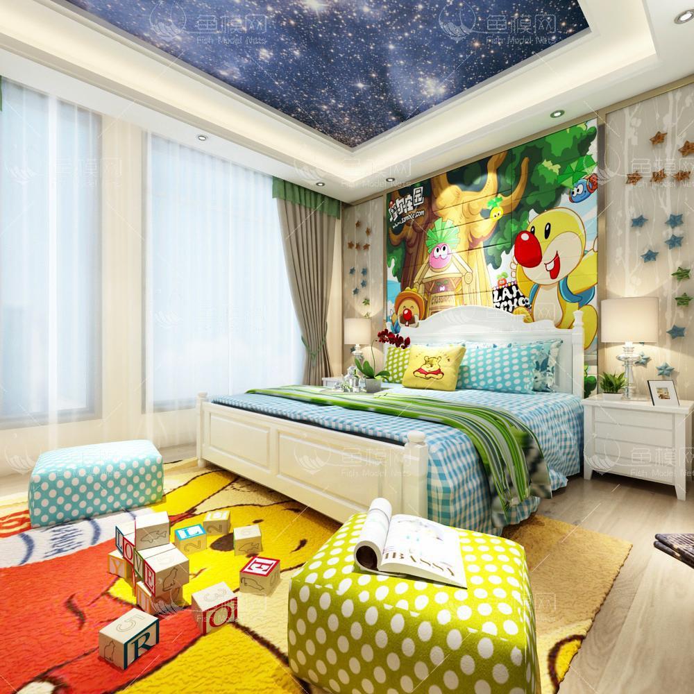 儿童房 (9)3d模型