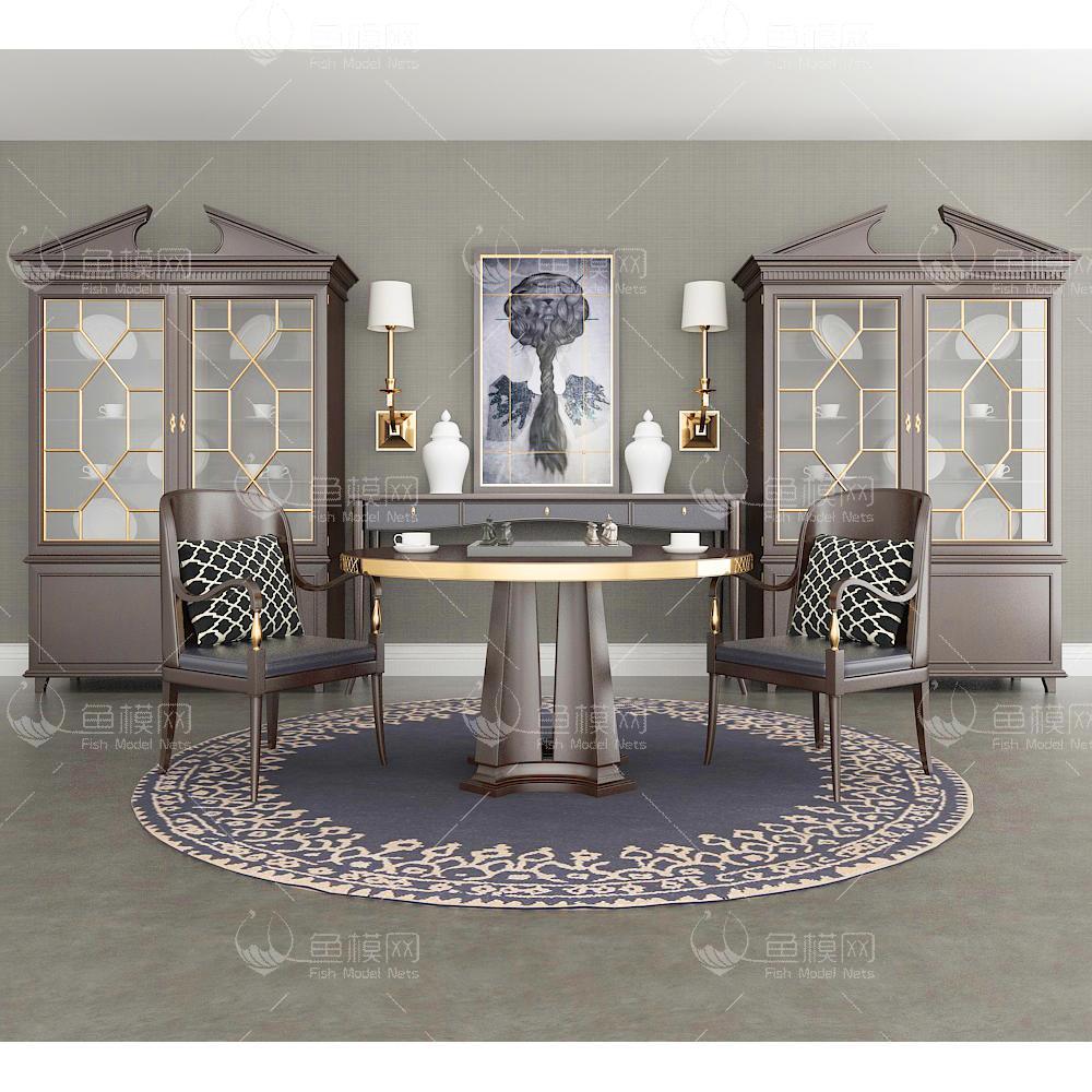 柜子桌椅组合3d模型