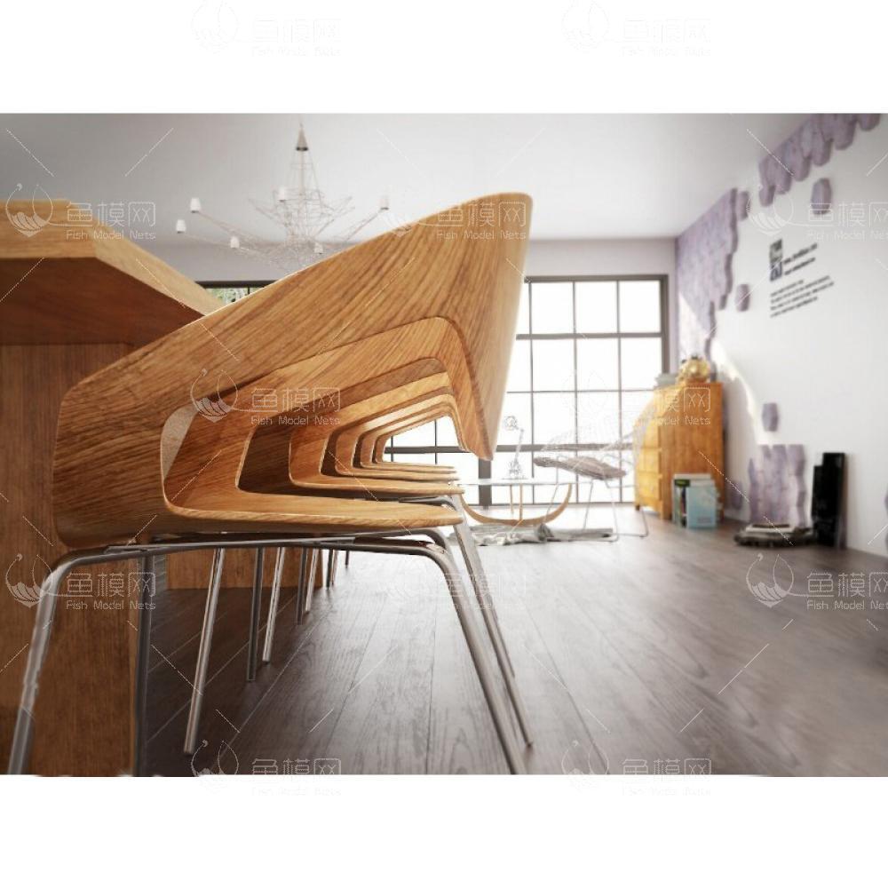 家具组合3d模型