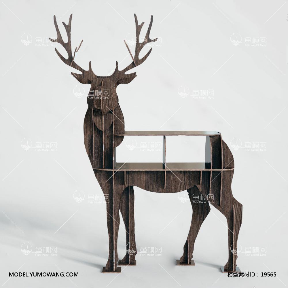 北欧装饰鹿3d模型