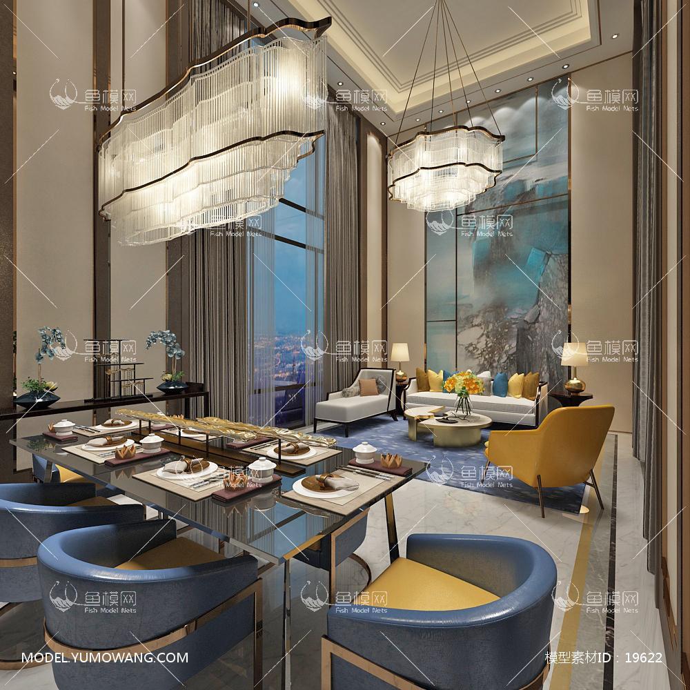 现代别墅大厅53d模型