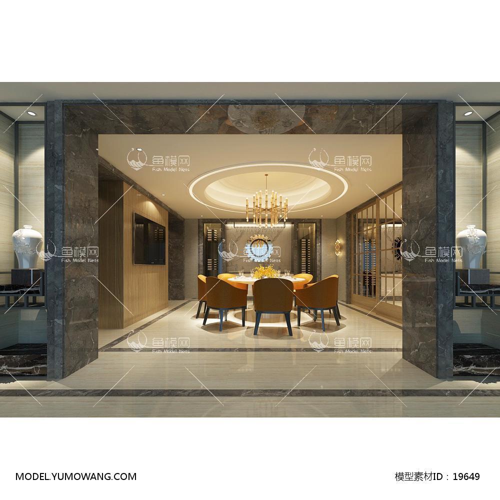欧式时尚简约大方餐厅 (3)3d模型