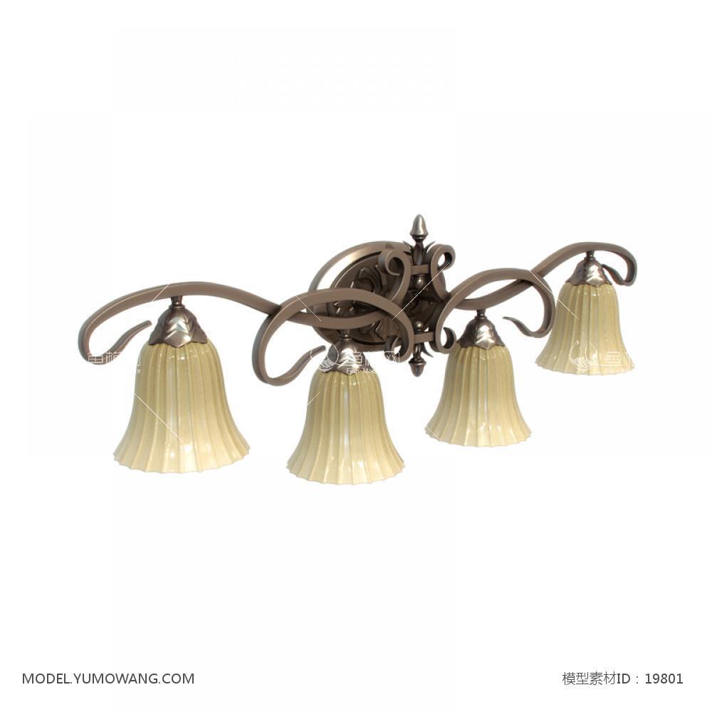 美式风格壁灯 (3)3d模型
