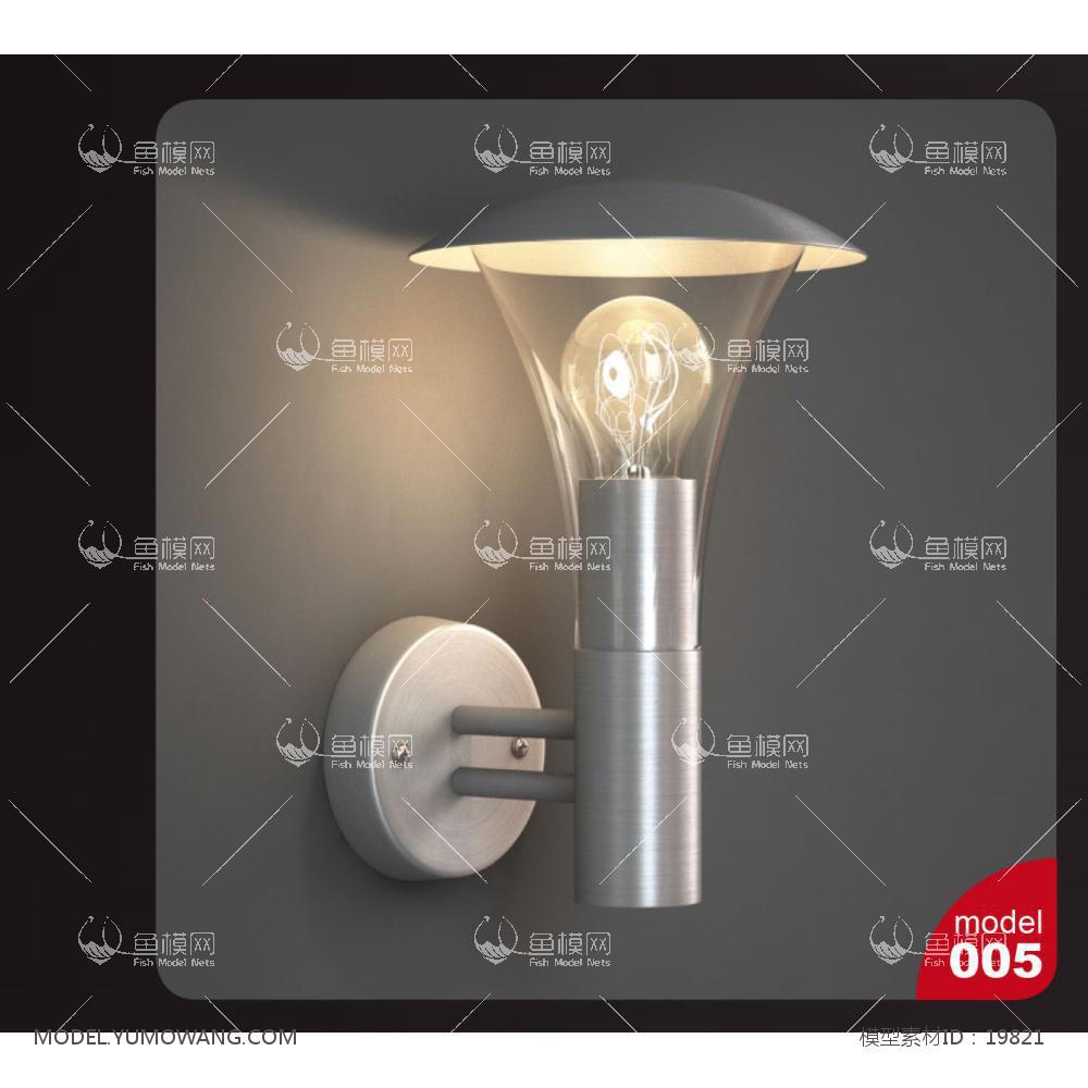 金属壁灯3d模型