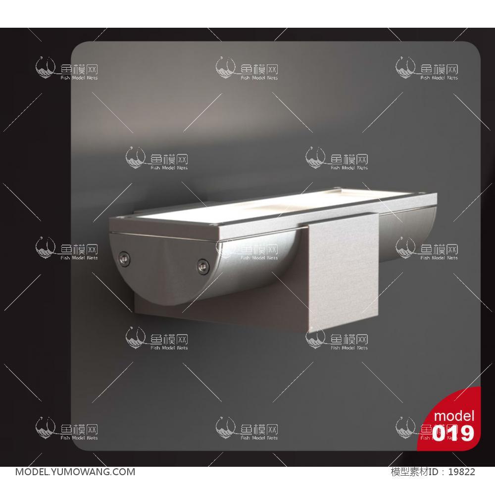 金属壁灯 (2)3d模型
