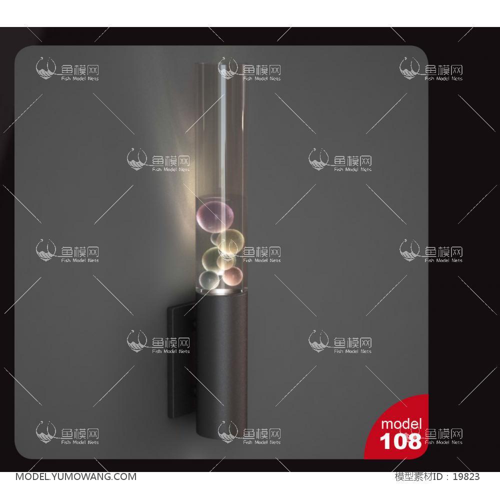 现代壁灯 (7)3d模型