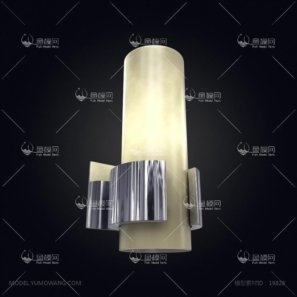 现代风格设计感壁灯 (10)3d模型