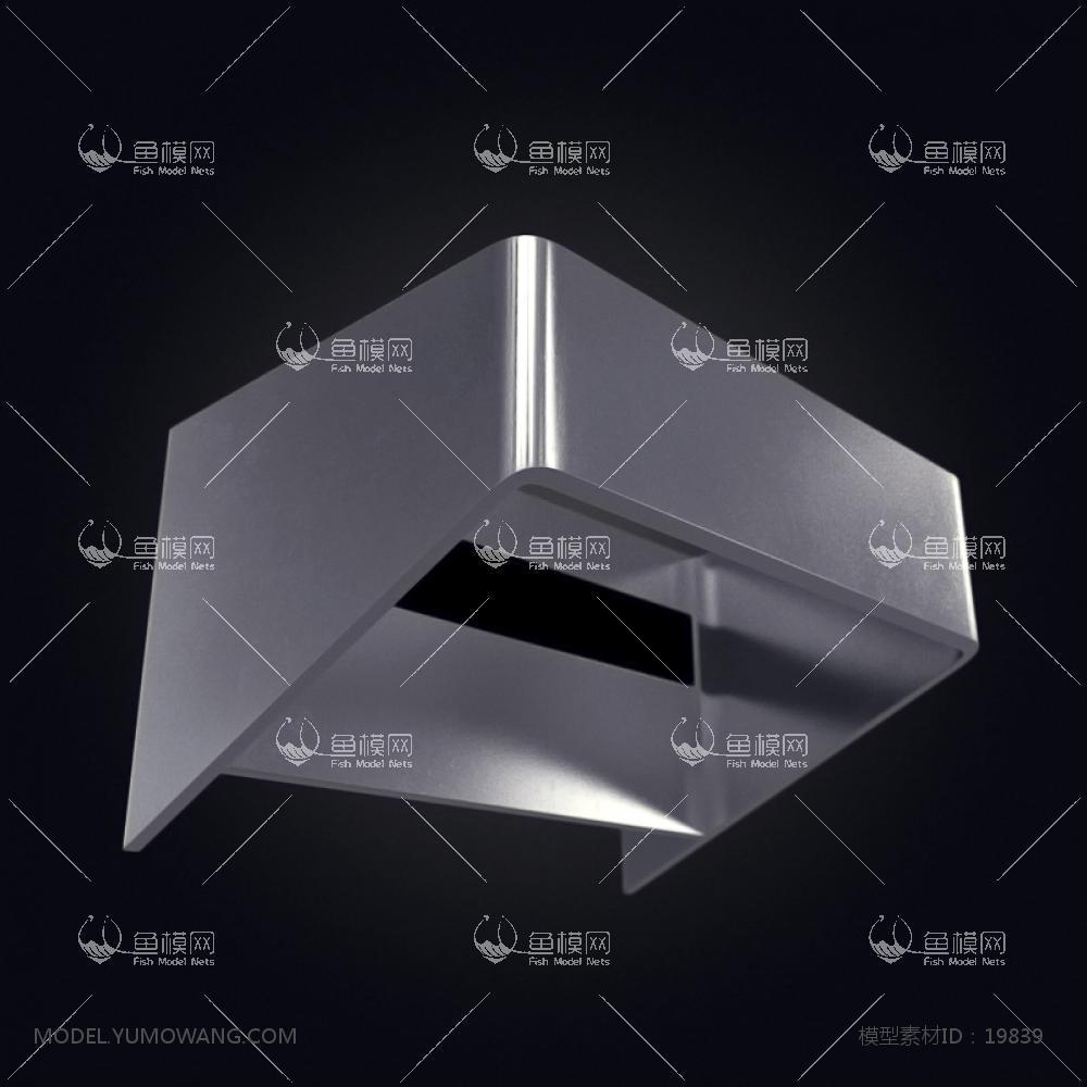 现代风格设计感壁灯 (7)3d模型