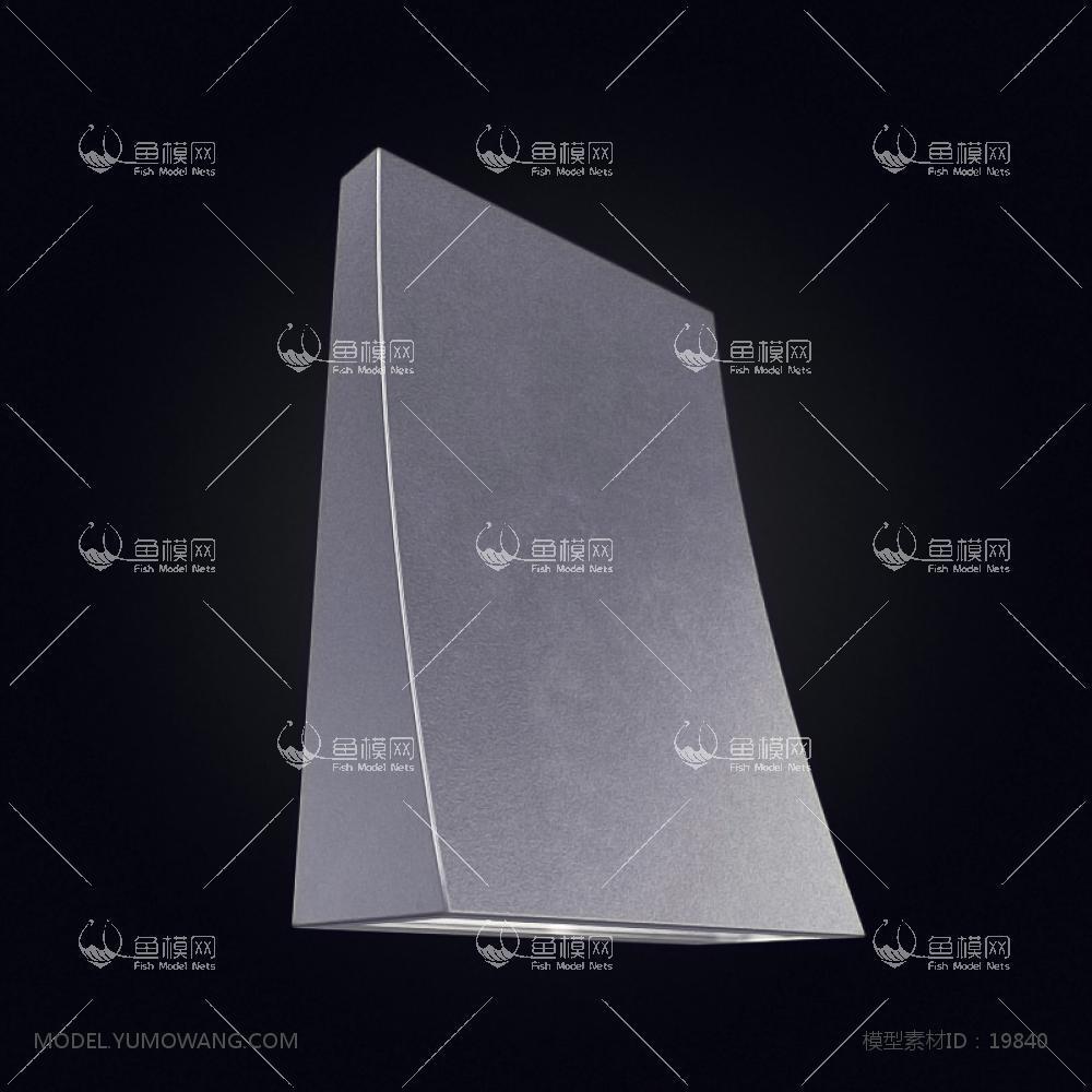 现代风格设计感壁灯 (8)3d模型