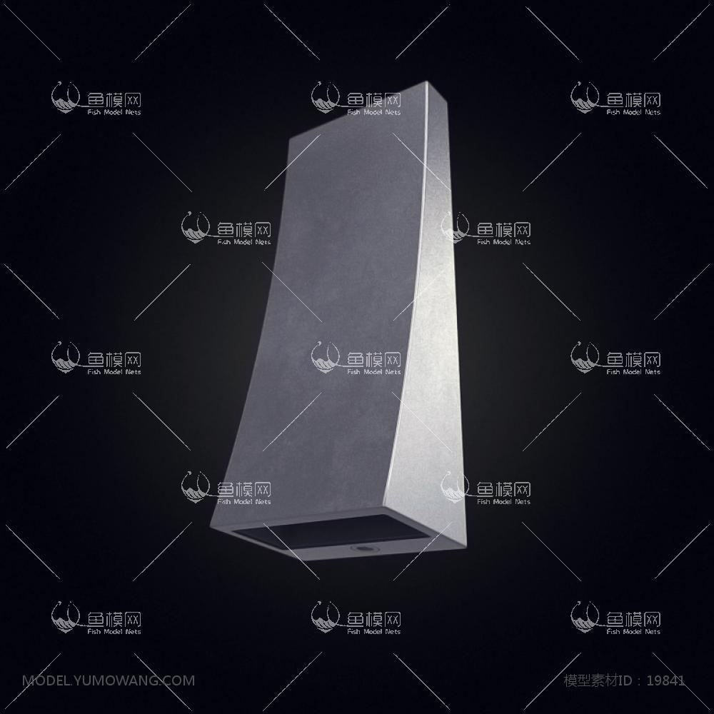 现代风格设计感壁灯 (9)3d模型